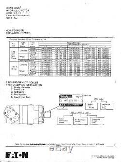 EATON Char-Lynn 109-1011-003 Hydraulic Motor 4000 Series NOS