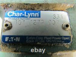 Eaton 101 1279 007 H Ser Spool Valve Hydraulic Motor 4 Bolt Flange SAE #10 Ports