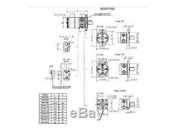 HYDRAULIC MOTOR BMP Gerotor/Eaton'H', Parker'TC', White, Danfoss FREE POST AU