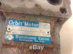 Sumitomo Eaton Hydraulic Orbit Motor, H-070B22FM-J, Used, WARRANTY