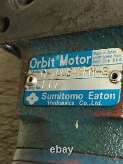 Sumitomo Eaton Hydraulic Orbit Motor, H-100BA2FM-G, Used, SHIPS SAME DAY