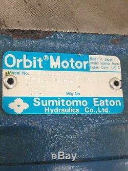 Sumitomo Eaton Hydraulic Orbit Motor, H-100BA2FM-J, Used, WARRANTY
