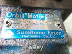 Sumitomo Eaton Orbit Hydraulic Oil Motor H-070da2f-g Snk Sut-60 Cnc Lathe